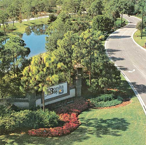 Bird's eye view of the main entry of Bonita Bay