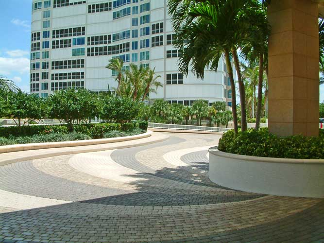 Regent specitaly paving at porte-cochere - Naples, Florida