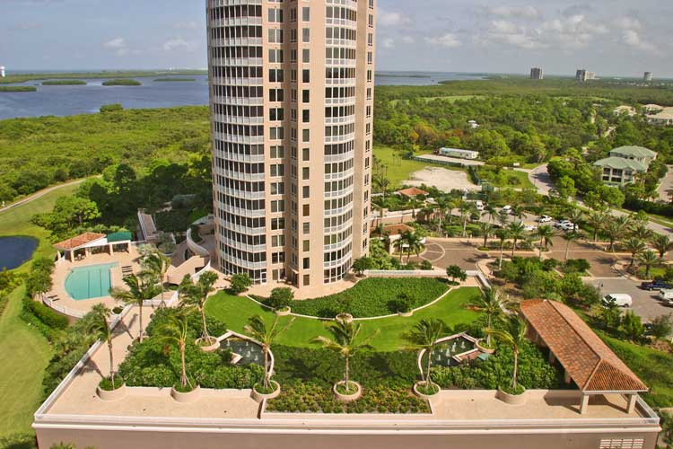 Vistas tower view and parking roof deck - Bonita Springs, Florida