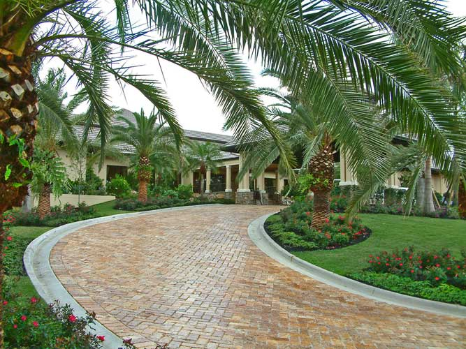 The Clubhouse entry drive at Boca Grove - Plantation, Florida