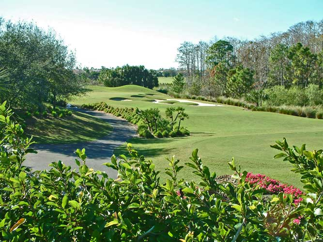 A shot down at fairway at the Brooks golf course - Bonita Springs, Florida