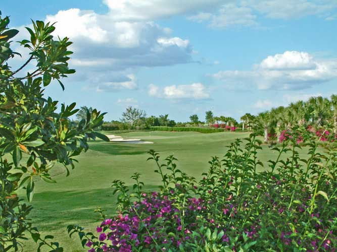 A shot along the fairway at the Ritz Carlton Golf Couse - Sarasota, Florida