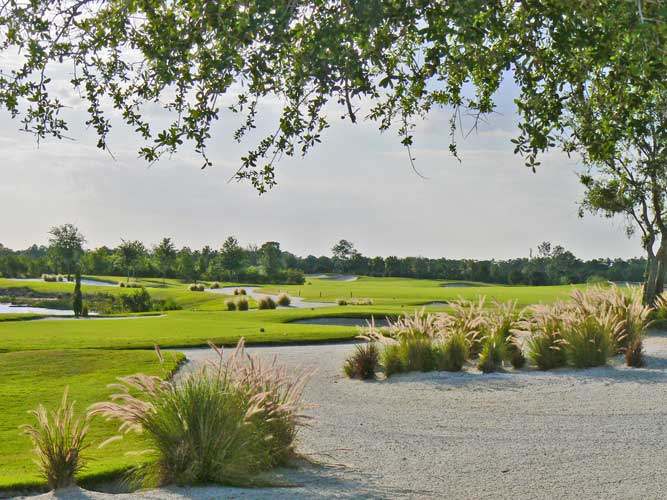 If you have to be in the bunkers at the Ritz Carlton Golf Course, you couldn't pick a nicer view - Sarasota, Florida
