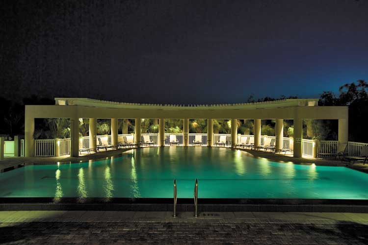 Azure Condo Pool at night - Bonita Springs, Florida