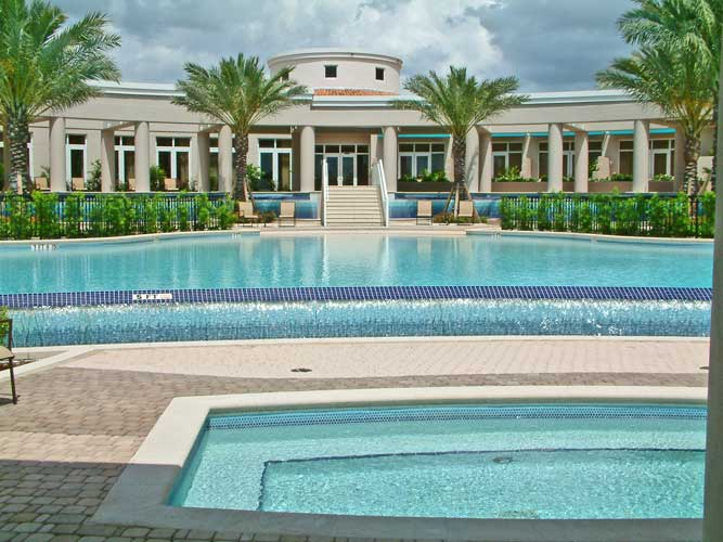 Esperia Condo Pool with beach entry and infinity edge - Bonita Springs, Florida