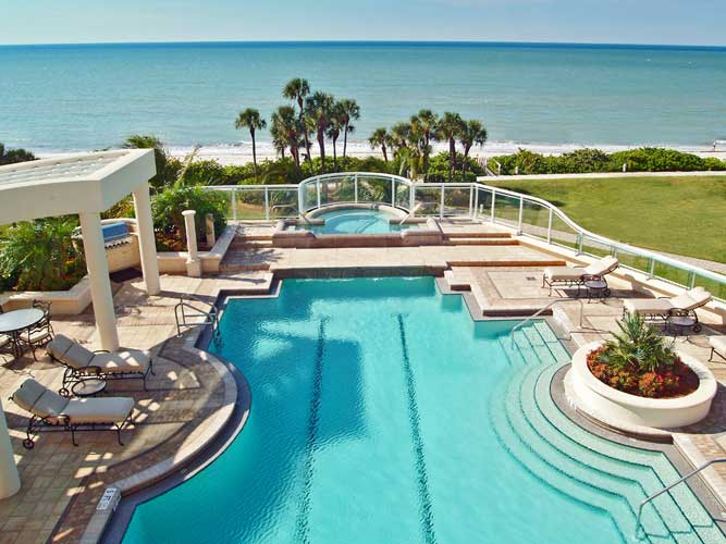 Regent Condo Pool - Naples, Florida