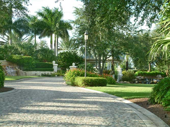 The main entry leading up to the guardhouse at Estuary - Naples, Florida