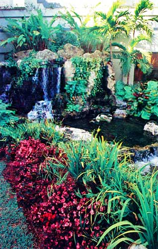 Natural looking waterfall at the Horizons ACLF - Boca Raton, Florida